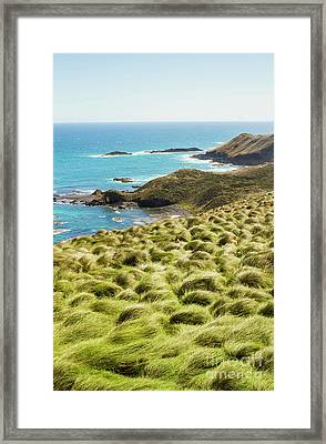 Vibrant Cape Seascape Framed Print