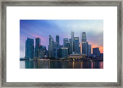 Vibrant City Framed Print