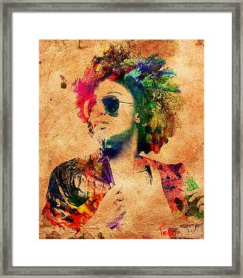 Vibrant Framed Print by Derron Ridley