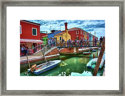 Vibrant Dreams Floating In The Air Framed Print