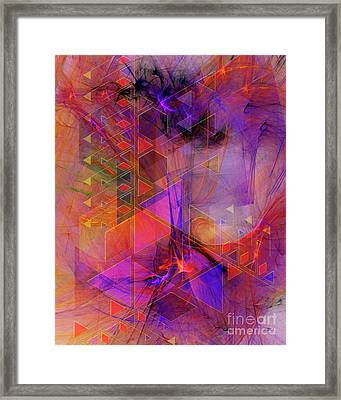 Vibrant Echoes Framed Print by John Beck