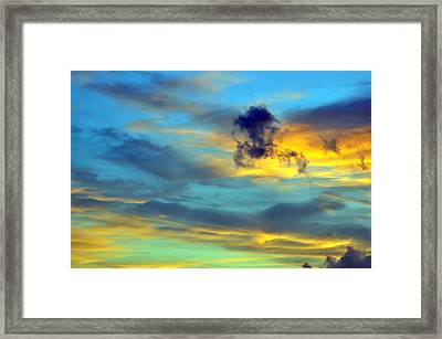 Vibrant Evening Sky Framed Print by Rose  Hill