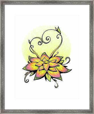 Vibrant Flower 8 Framed Print