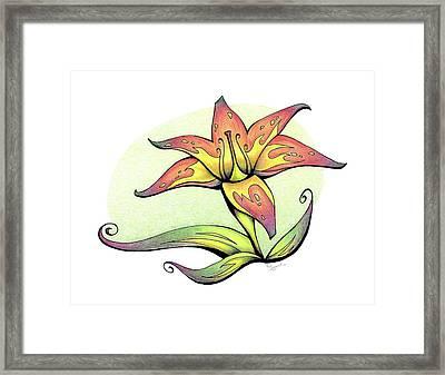 Vibrant Flower 4 Tiger Lily Framed Print