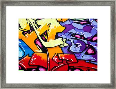 Vibrant Graffiti Framed Print by Richard Thomas