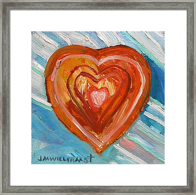 Framed Print featuring the painting Vibrant Heart by John Williams