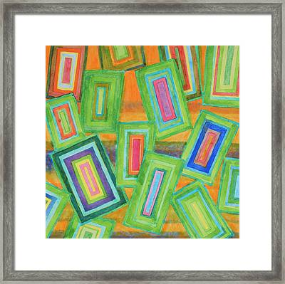 Vibrant Rectangles Framed Print by Heidi Capitaine