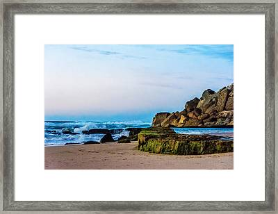 Framed Print featuring the photograph Vibrant Seascape At Twilight by Marion McCristall
