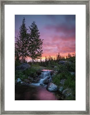 Vibrant Sky // Whitefish, Montana  Framed Print