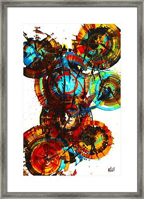Vibrant Sphere Series 995.042312vsx2 Framed Print by Kris Haas