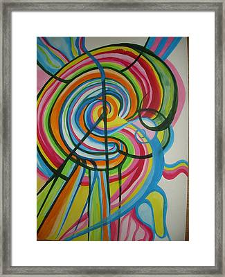 Framed Print featuring the painting Vibrant Spirals by Erika Swartzkopf