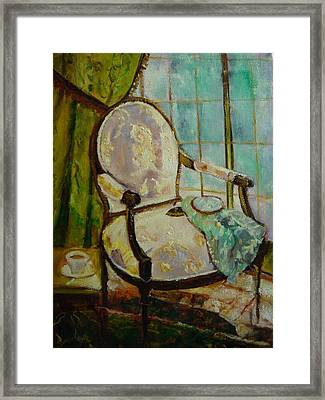 Vibrant Still Life Paintings - Afternoon Repose - Virgilla Art Framed Print by Virgilla Lammons