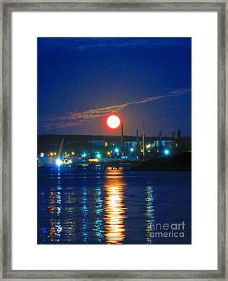 Vibrant Super Moon Framed Print by John Malone