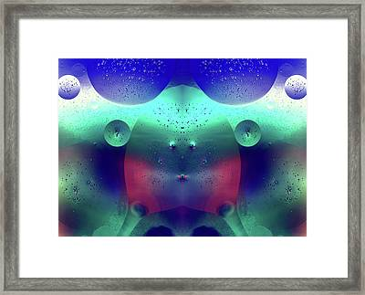 Framed Print featuring the photograph Vibrant Symmetry Oil Droplets by John Williams