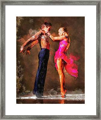 Vibrant Tango Framed Print by Shirley Stalter