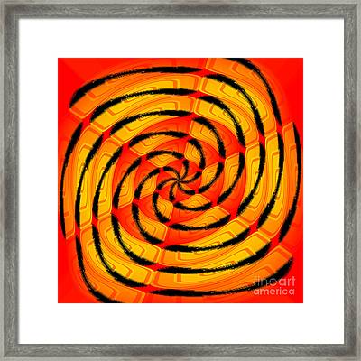 Vibrant Tigerlike Abstract Framed Print