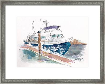 Vic Harbor Boat Framed Print by Pat Katz