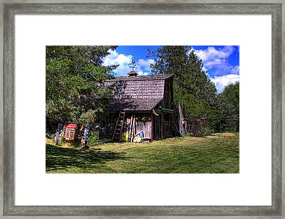 Vic Moore's Barn Framed Print by David Patterson