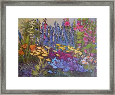 Vic Park Garden Framed Print by Carol Hama Chang