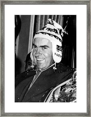 Vice President Richard Nixon 1913-1994 Framed Print by Everett