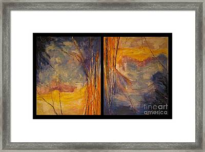 Framed Print featuring the painting Vice Versa Dyptich by Debora Cardaci