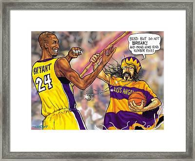 Vick-the-brick Passes The Bamboo Framed Print by Brian Child