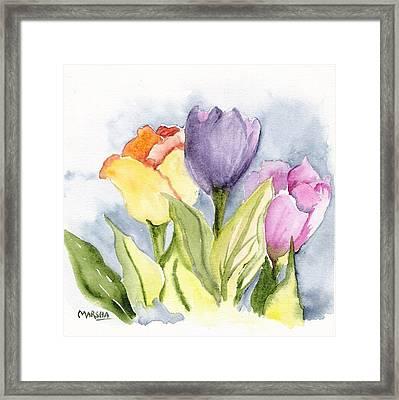 Vickis Tulip Framed Print