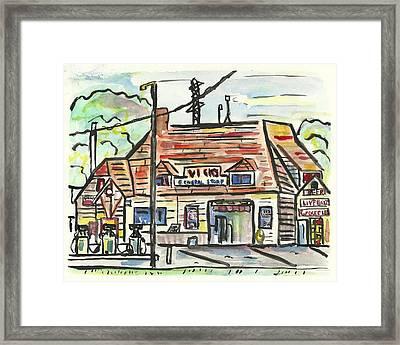 Vick's Corner Framed Print