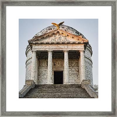 Vicksburg - Illinois Memorial Framed Print by Stephen Stookey