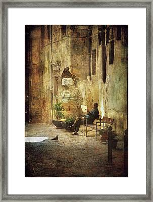 Vicolo Chiuso   Closed Alley Framed Print