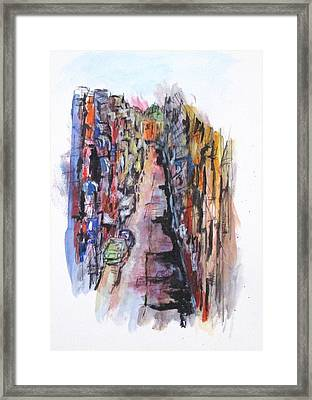 Vicolo De Napoli Framed Print by Clyde J Kell