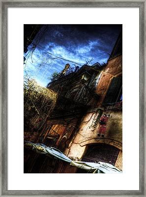 Vicolo Del Piede Framed Print by Brian Thomson