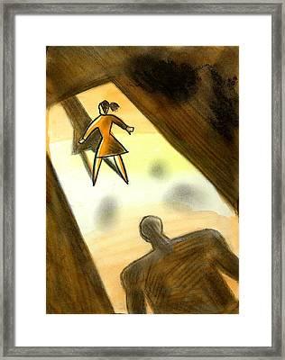 Victim Framed Print by Leon Zernitsky