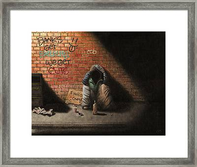 Victim Of Circumstance Framed Print by Conor O'Brien