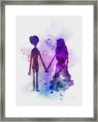 Victor And Emily Framed Print