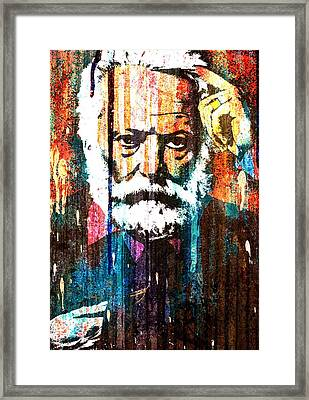 Victor Hugo Abstract Framed Print by Otis Porritt