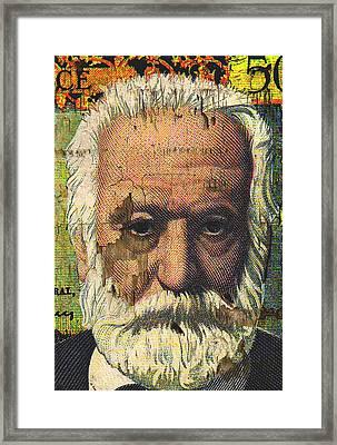 Victor Hugo-cinq Cents Francs Large Framed Print by Otis Porritt