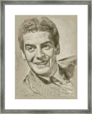 Victor Mature Vintage Hollywood Actor Framed Print by Frank Falcon