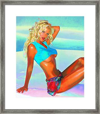 Victoria - Sexy Poster Framed Print by Rod Saavedra-Ferrere
