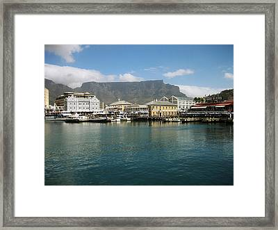 Victoria And Alfred Waterfront Framed Print by Oliver Johnston