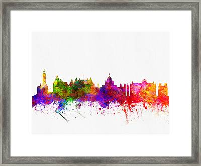 Victoria British Columbia Skyline Color02 Framed Print