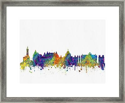 Victoria British Columbia Skyline Color03 Framed Print