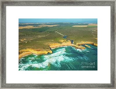 Victoria Coast Helicopter Framed Print