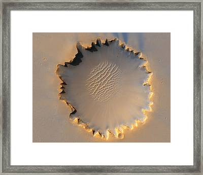 Victoria Crater Of Mars  Framed Print