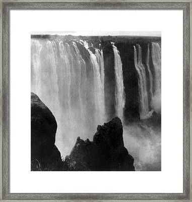 Victoria Falls - C 1911 Framed Print by International  Images