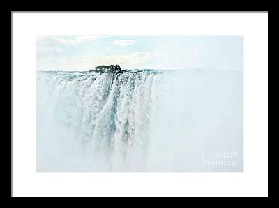 Zambia Waterfall Framed Prints