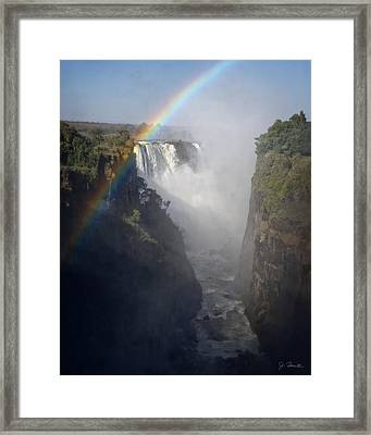 Victoria Falls No. 3 Framed Print by Joe Bonita