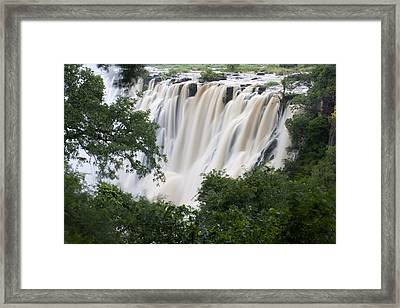 Victoria Falls Waterfall Framed Framed Print by Roy Toft