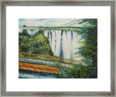 Victoria Falls Zimbabwe 2012 Framed Print by Enver Larney