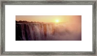 Victoria Falls, Zimbabwe Framed Print by Ben Cranke